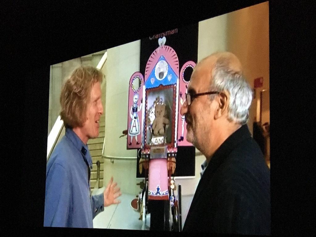 Grayson Perry in gesprek met directeur van het British Museum